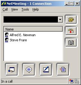Netmeeting on Win2K on a call with an XOpenH323 client!